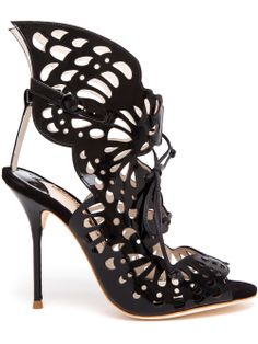 Sophia Webster Electra Laser Cut Patent Leather Sandals