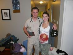 """""""Baby Wants Out"""" and other Halloween costumes for pregnant women that'll celebrate that baby bump!"""
