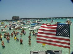 Crab Island, Destin, Florida, United States - what a fun time, bring your pontoon, boat, jetski or rent one and go have some fun at Crab Island!!