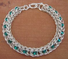 I just listed May Day Emerald Green Chainmaille Bracelet on The CraftStar @TheCraftStar #uniquegifts