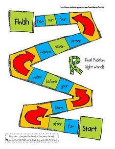 Speech Therapy Articulation gameboard for /r/ in final position - Pinned by @PediaStaff – Please Visit  ht.ly/63sNt for all our pediatric therapy pins