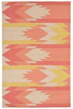 "Sierra Southwestern Rug in warms tones, 7'10"" x 9'10"" $239+$36 shipping. Perfect for front sitting area. Also available in cool tones (blue and lime green). 