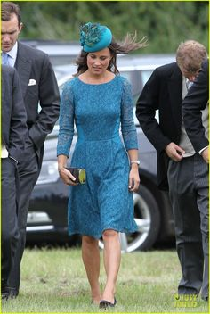 Pippa Middleton is pure class while attending the wedding of Lady Laura Marsham and James Meade at St. Nicholas Parish Church Gayton in Norfolk, UK.