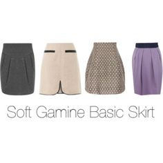 Soft Gamine Basic Skirt
