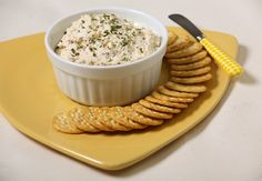 Cheesy Chicken Spread - Serve this spread with crackers for a potluck snack that will disappear quickly