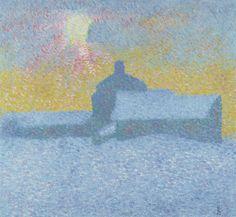 The Athenaeum - Winter (Giovanni Giacometti - 1910)