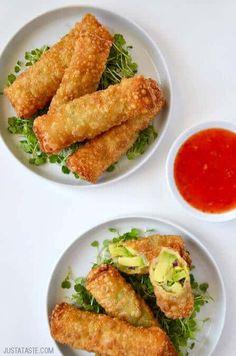 5-Ingredient Avocado Egg Rolls | Just a Taste