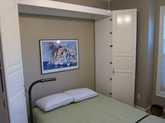 Murphy Bed--freestanding, using Ikea cabinets for the built in. For the boys' room?