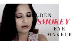 Golden Smokey Eye Makeup Tutorial   SparklyThoughts