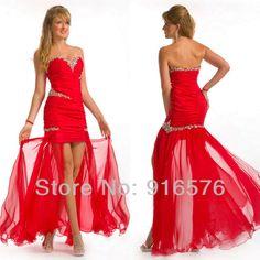 Vestidos de gala rojos.