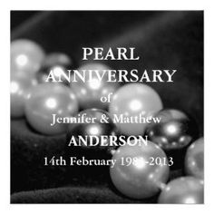 30th wedding anniversary decorations   30th Pearl Wedding Anniversary Celebarationll(B) Personalized