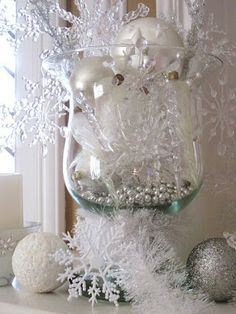 Use large vases for decorations with my colors