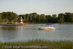 Mount Dora Lighthouse from Elizabeth Evan's Park