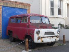 Bedford CA Van Minibus (interim model, split windscreen, chrome grill). Bedford Truck, Newhaven, Ice Cream Van, Rusty Cars, Vintage Vans, Classic Motors, 4x4, Abandoned Cars, Commercial Vehicle