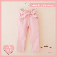 Itty Bitty Pink Bow Jeans https://www.ittybitty.co.uk/product/itty-bitty-pink-bow-jeans/ #outerwear #youngergirls