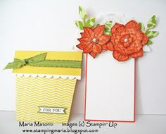Maria's Stamping Station: Flower Pot Note Card made with Stampin' Up's Secret Garden Bundle