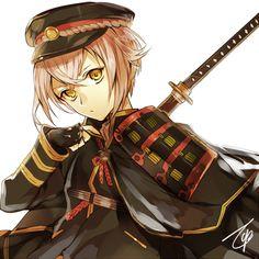 pixiv(ピクシブ)は、作品の投稿・閲覧が楽しめる「イラストコミュニケーションサービス」です。幅広いジャンルの作品が投稿され、ユーザー発の企画やメーカー公認のコンテストが開催されています。 I Love Anime, Anime Guys, Mutsunokami Yoshiyuki, Nikkari Aoe, Army Hat, Anime Military, Anime Figurines, Bishounen, Manga Illustration