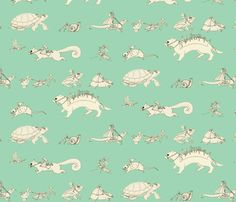 Life on the Feyway fabric by ceanirminger on Spoonflower - custom fabric