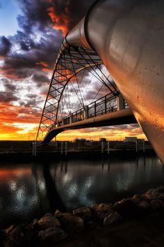"""threeletternews: """" tect0nic: Exmouth Bridge by Paul Emmings via 500px. """""""