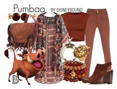 """Pumbaa"" by leslieakay ❤ liked on Polyvore featuring Paul Smith, Ally Fashion, Splendid Pearls, Ruby Kats, disney and disneybound"