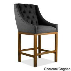 Alexa Premium Linen Barstool - 16803534 - Overstock.com Shopping - Great Deals on South Cone Home Bar Stools