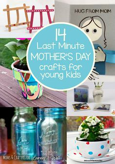 Last minute Mother's Day crafts for younger kids