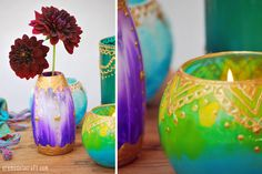 DIY: Moroccan Candle Holders From Glass Jars   Paint