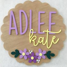 Floral Nursery Name Sign Wood Name Sign, Wood Names, Wood Signs, Nursery Name, Nursery Signs, Girl Nursery, Cute Baby Names, Baby Girl Names, Middle Names For Girls