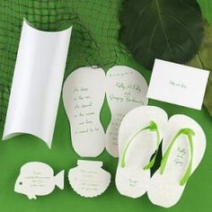 Beach Wedding Handmade Invitations DIY ideas