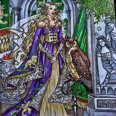 Cersei from Game of Thrones  colouring book.#cesei#gotcoloringbook #gameofthrones #derwent#prismacolor #adultcolouring #coloringbook