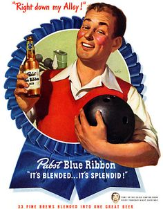 Plan59 :: Pabst Blue Ribbon Beer, 1947