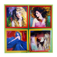 Taylor Swift, Fearless, Speak Now, RED - Peter Max Cover Art