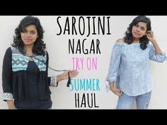 Sarojini Nagar Summer Haul 2017 - Sarojini Nagar Try on Clothing  Haul from Sarojini nagar Monday Market. I went to Sarojini nagar on Monday, check out the Sarojini market vlog in my channel, Delhi street shopping is the best & I picked up some amazing summer clothes and very affordable price. The clothing include off shoulder top, ripped jeans, printed scarf, pineapple dress, romper etc.
