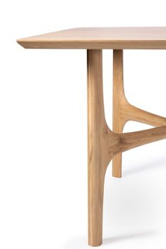Rectangular oak dining table OAK NEXUS By Ethnicraft design Alain Van Havre Shelf Furniture, Wooden Furniture, Table Furniture, Furniture Design, Bedroom Furniture, Modular Furniture, Furniture Market, Furniture Assembly, Furniture Legs
