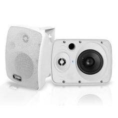 """Pyle - Waterproof & Bluetooth 5.25"""" Indoor / Outdoor Speaker System, 600 Watt, White Outdoor Speaker System, Outdoor Speakers, Home Audio Speakers, Great Speakers, Powered Subwoofer, Powered Speakers, Waterproof Bluetooth Speaker, Bluetooth Speakers, Jbl Flip 4"""