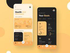 Mobile Ui Design, App Ui Design, Design Design, Design Thinking, Motion Design, Goal App, App Map, Website Design Layout, Mobile App Ui
