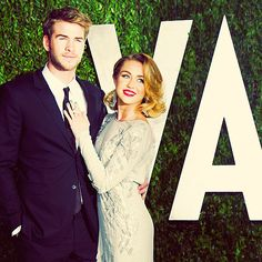 Liam Hemsworth and Miley Cyrus <3
