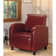 Beautiful  Coaster 900335 Vinyl Accent Chair, Red . click here to view them !  http://www.amazon.com/gp/product/B004T3CPD4/ref=as_li_qf_br_asin_il_tl?ie=UTF8=1789=9325=B004T3CPD4=as2=httponkyotxnr-20