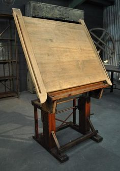 1900 Wooden Drafting Table @ EspaceNordOuest