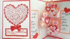 DIY Pop Up Valentine Day Card/How to make Pop Up Card for Valentine/ Hea...