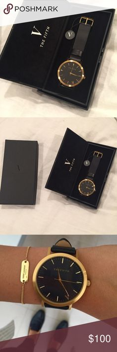 The Fifth Black & Gold Watch *NEW* Brand new! The fifth black and gold watch! NO TRADES The fifth Accessories Watches