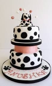 dalmatian party - Google Search Pretty Cakes, Cute Cakes, Beautiful Cakes, Amazing Cakes, Fun Cupcakes, Cupcake Cakes, Cake Designs For Kids, Dog Cakes, Character Cakes