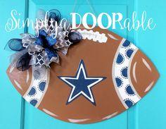 Dallas Cowboys Football Wood Door Hanger by by SimplyaDOORableNC