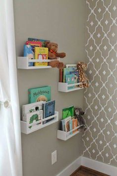 Great No Cost Ikea Spice Racks Used As Bookshelves - Ideas For Baby Zi . Popular In several dormitories Ikea rooms are very happy to be viewed, as they provide numerous alternatives Ikea Hack Kids, Hacks Ikea, Hacks Diy, Baby Hacks, Cleaning Hacks, Girl Nursery, Girl Room, Room Baby, Child Room