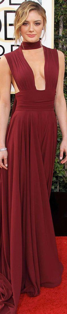 Christine Evangelista 2017 Golden Globes | Dress Label: Gauri & Nainika; From: New Delhi, India.