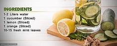 Slimming & Detox Fruit Infused Water Flat Belly Diet Drink