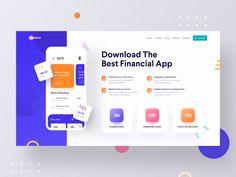 App Landing Web Ui by Luova Studio Design Ios, Dashboard Design, Web Design Trends, Graphic Design, Site Design, Logo Design, Landing Page Inspiration, App Design Inspiration, App Landing Page