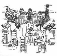 Tea with Mary Poppins - most surprising! Illustrations by Mary Shepard.