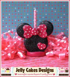 Miss Minnie Keepsake Cake Topper Minie Mouse Party, Fiesta Mickey Mouse, Mickey Mouse Bday, Minnie Mouse Cake, Number Cake Toppers, Fondant Toppers, Fondant Cupcakes, Fondant Numbers, Fondant Figures Tutorial