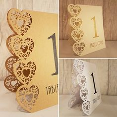 Our gorgeous #wedding table numbers are heart and floral laser cut. 1-15 in a pack) double sided and free standing 6.50 including free delivery)! Ahoydesigns.co.uk #wedding #weddinghour #personalised #inspiration #thebigday #crafts #craft #guestbook #memories #weddingday #bespoke #unique #smallbiz #supportsmallbiz #gettingmarried #love #engaged #newlyengaged #gift #present #diy #homemade #womeninbusiness #womeninbiz #handmade